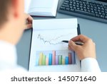 close up of graphs and charts... | Shutterstock . vector #145071640