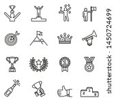 success icons set with white... | Shutterstock .eps vector #1450724699
