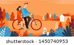 vector cartoon illustration in... | Shutterstock .eps vector #1450740953