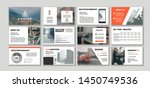 corporate presentation template.... | Shutterstock .eps vector #1450749536