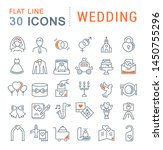 set of line icons of wedding... | Shutterstock . vector #1450755296