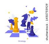 office worker standing on... | Shutterstock .eps vector #1450755929