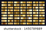 big set of metallic gold... | Shutterstock .eps vector #1450789889