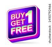 buy 1 get 1 free  sale tag  app ... | Shutterstock .eps vector #1450792466