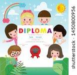 certificate kids diploma ...   Shutterstock .eps vector #1450800956