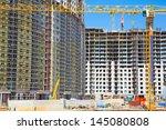 construction  yellow crane. | Shutterstock . vector #145080808