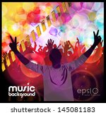 party people vector background | Shutterstock .eps vector #145081183
