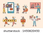 business concept characters.... | Shutterstock .eps vector #1450820450