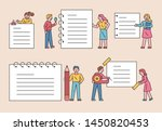 people who write large office... | Shutterstock .eps vector #1450820453