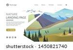 landing page template. modern... | Shutterstock .eps vector #1450821740