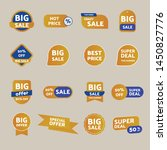 sales sticker set. big sale... | Shutterstock .eps vector #1450827776