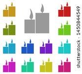 candles multi color icon....