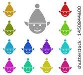 elf multi color icon. simple...