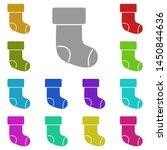christmas sock multi color icon....