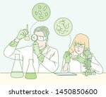 two male scientists in the... | Shutterstock .eps vector #1450850600