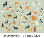 40 dog breeds illustration...   Shutterstock .eps vector #1450872326