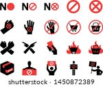 boycott icon set. included... | Shutterstock .eps vector #1450872389