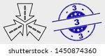 vector outline triple roads...   Shutterstock .eps vector #1450874360