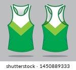 tank tops design  white   green ... | Shutterstock .eps vector #1450889333