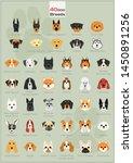 40 dog breeds illustration... | Shutterstock .eps vector #1450891256