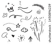 hand drawn set elements  black... | Shutterstock .eps vector #1450896239