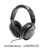 headphones  isolated on white... | Shutterstock . vector #145090123