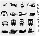 transport icons set  basic... | Shutterstock .eps vector #145091590