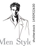 vector young man models....   Shutterstock .eps vector #1450922630