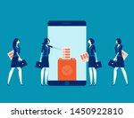online smartphone screen voting ... | Shutterstock .eps vector #1450922810