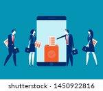 online smartphone screen voting ... | Shutterstock .eps vector #1450922816