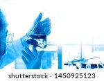 close up  scientist or chemist... | Shutterstock . vector #1450925123