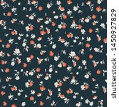 cute floral seamless pattern in ... | Shutterstock .eps vector #1450927829