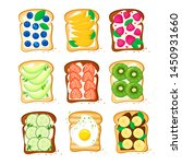 set sweet sandwiches toasts... | Shutterstock .eps vector #1450931660