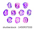 number 1 to 10 on pink purple... | Shutterstock .eps vector #1450937333