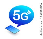 5g phone. smartphone with 5g... | Shutterstock .eps vector #1450937366