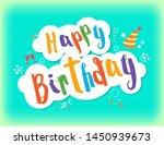 happy birthday greeting text... | Shutterstock .eps vector #1450939673