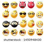 Emoticon Vector Set. Smiling...