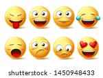 emoticon vector icon set.... | Shutterstock .eps vector #1450948433