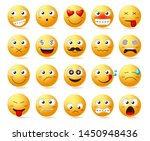 emoticon vector icon set. emoji ... | Shutterstock .eps vector #1450948436