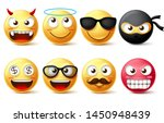 emojis and emoticon vector... | Shutterstock .eps vector #1450948439