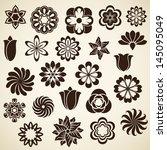 Vintage Flower Buds Vector...
