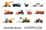 snow removal vector winter... | Shutterstock .eps vector #1450951136