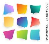 modern gradient blank thought... | Shutterstock .eps vector #1450959773