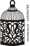 decorative bird cage. | Shutterstock .eps vector #145096789