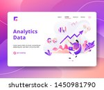 landing page analytics data... | Shutterstock .eps vector #1450981790