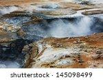 Mud Pots At Hverir  Iceland