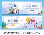 teamwork and be best... | Shutterstock .eps vector #1450986749