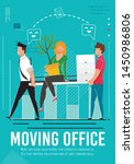moving office and business team ...   Shutterstock .eps vector #1450986806