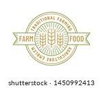 farm food logo isolated on...   Shutterstock .eps vector #1450992413