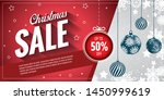 the christmas sale. advertising ... | Shutterstock .eps vector #1450999619